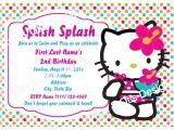Hello Kitty Pool Party Invitations Personalized Hello Kitty Swim Party Invitation In Bright