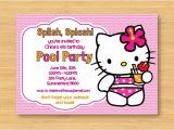 Hello Kitty Pool Party Invitations Pin Hello Kitty Pool Party Birthday Invitations Ebay
