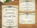 High Resolution Wedding Invitation Template Vintage Victorian Style Design High Resolution Wedding