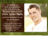 High School Graduation Invitation Quotes Photo Christian Graduation Announcement Homeschool Cross