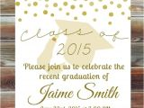 High School Graduation Open House Invitations Gold Graduation Open House Invitation Custom Graduation