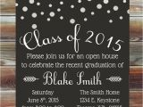High School Graduation Open House Invitations Graduation Party Invitation Custom Color Graduation Open