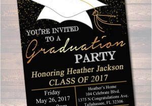High School Graduation Party Invites Editable Graduation Party Invitation High School Graduation