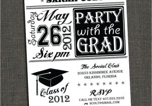 High School Graduation Party Invites High School or College Graduation Party by