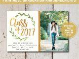 High School Graduation Photo Invitations College Graduation Invitation Printable High School