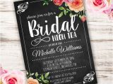 High Tea Invitation Wording Bridal Shower Printable Bridal High Tea Invitation Template Invite Your
