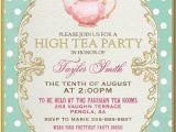 High Tea Invitation Wording Bridal Shower Tea Party Invitation High Tea Bridal Shower by