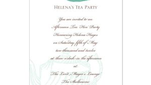 High Tea Party Invitation Wording afternoon Tea Invitation Template orderecigsjuice Info