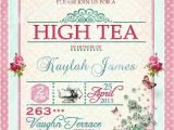 High Tea Party Invitation Wording High Tea Invitation Tea Party Bridal Shower Brunch Lunch