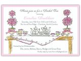 High Tea Party Invitation Wording High Tea Invitations Paperstyle