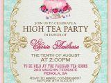 High Tea Party Invitations Free High Tea Invitation Template Invitation Templates J9tztmxz