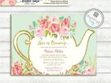 High Tea Party Invitations Free Love is Brewing Bridal Shower Invitation Garden Tea