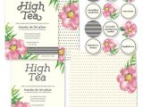 High Tea Party Invitations Free Printable High Tea Party Invitations