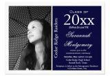 Highschool Graduation Invitations 2014 High School Graduation Announcements Navy Zazzle