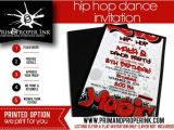 Hip Hop Dance Birthday Party Invitations Hip Hop Dance Party Invitations Graffiti Invitation