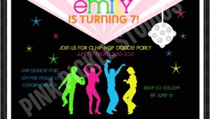 Hip Hop Dance Birthday Party Invitations Hip Hop Dance Personalized Party Invitation