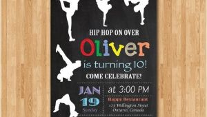 Hip Hop Party Invitations Free Hip Hop Birthday Invitation Chalkboard Birthday Party