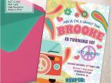 Hippie Party Invitations Hippie Chic Birthday Party Invitations Diy Groovy Party