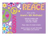 Hippie Party Invitations Personalized Hippie Invitations Custominvitations4u Com