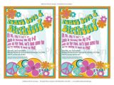 Hippie Party Invitations Printable Party Invitation Hippie 1960s by Dilibertodesign