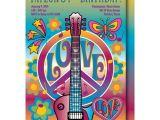 Hippie Party Invitations Retro Birthday Invitation Hippie Birthday Party 60 39 S