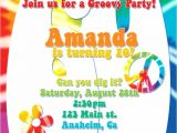 Hippie Party Invitations Sixties 1960 39 S 60 39 S Hippie Tie Dye Psychedelic Birthday