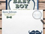 Hipster Baby Shower Invitations Hipster Baby Shower Mustache Invitation Envelope [di