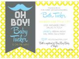 Hipster Baby Shower Invitations Hipster Mustache Baby Shower Invitation