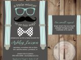 Hipster Bridal Shower Invitations Little Man Baby Shower Invitation and Book Request Card