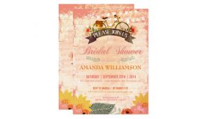 Hipster Bridal Shower Invitations Whimsical Hipster Bicycle Bridal Shower Invitation