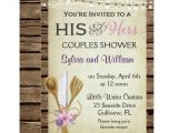 His and Hers Bridal Shower Invitations Bridal Shower Invitation His & Hers