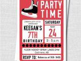 Hockey Birthday Party Invitations Templates Free Hockey Birthday Invitation Ice Hockey Winter Party Teen