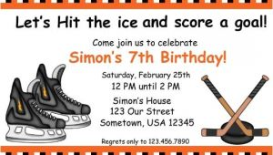 Hockey Birthday Party Invitations Templates Free Hockey Birthday Invitations Ideas – Bagvania Free