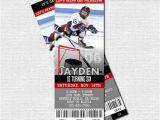 Hockey Birthday Party Invitations Templates Free Hockey Ticket Invitations Skate Birthday Party Print by