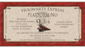 Hogwarts Birthday Invitation Template Hogwarts Harry Potter Birthday Invitation Printable
