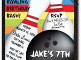 Holiday Bowling Party Invitations Bowling Birthday Party Invitations for Boys Strike Out