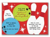 Holiday Bowling Party Invitations Bowling Party Invitations I 39 S Birthday Party Pinterest