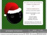 Holiday Bowling Party Invitations Printable Christmas Bowling event Holiday Party Invitation
