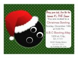 Holiday Bowling Party Invitations Red Green Christmas Bowling Invitations Zazzle