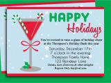 Holiday Cocktail Party Invitation Template Christmas Party Invitation Ideas Template Best Template