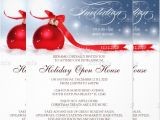 Holiday Open House Party Invitations Christmas 22 Open House Invitation Templates Free Sample Example