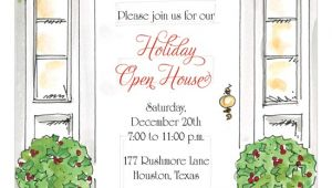 Holiday Open House Party Invitations Christmas Holiday Open House Invitations Polka Dot Design