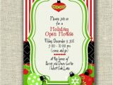 Holiday Open House Party Invitations Christmas Open House Holiday Christmas Whimsy ornaments Card Invitation
