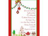 """Holiday Party E Invitations Christmas Party Invitation 5"""" X 7"""" Invitation Card"""