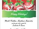 Holiday Party Invitation Pictures Red Swirl ornaments Holly Christmas Invitation