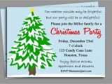 Holiday Party Invitation Verbiage Funny Christmas Party Invitation Wording Ideas Cimvitation