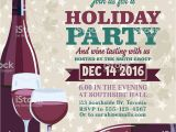 Holiday Wine Tasting Party Invitations Holiday Party Invitation Template with Wine Tasting Stock