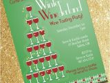 Holiday Wine Tasting Party Invitations Winter Winederland Holiday Wine Tasting Invitation by