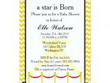 Hollywood Baby Shower Invitations A Star is Born Hollywood Baby Shower Invitation