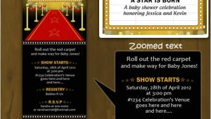 Hollywood Baby Shower Invitations Hollywood Baby Shower Invitation Ticket Style A Star is